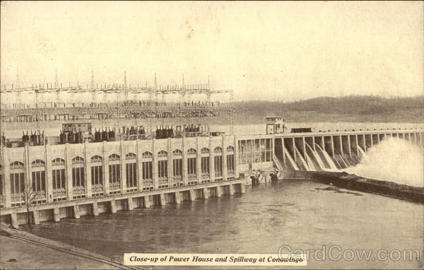 Close-up of Power House and Spillway at Conowingo Maryland