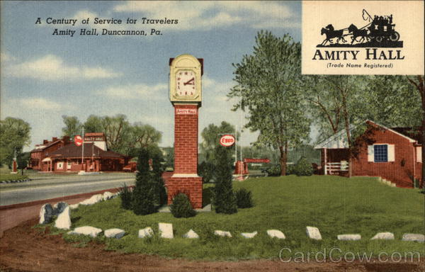 A Century of Service for Travelers, Amity Hall Duncannon Pennsylvania