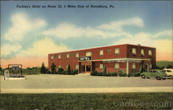 Farling's Hotel on Route 22 Harrisburg Pennsylvania