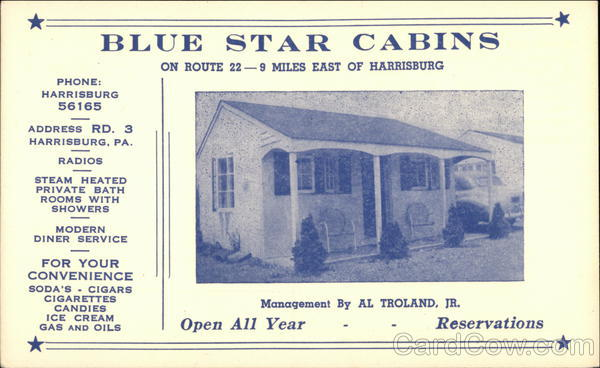 Blue Star Cabins Harrisburg Pennsylvania