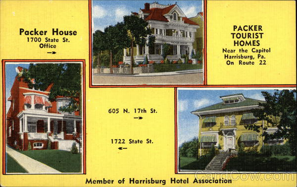 Tourist Homes - Member of Harrisburg Hotel Association Pennsylvania