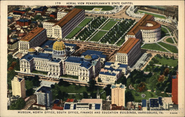 Museum, North Office, South Office, Finance and Education Buildings Harrisburg Pennsylvania