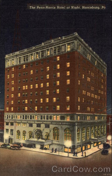 The Penn-Harris Hotel at Night Harrisburg Pennsylvania