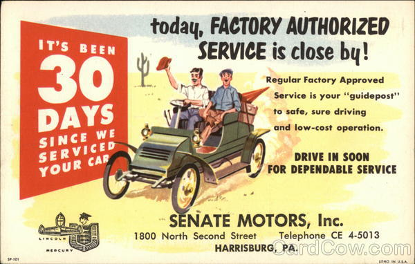 Senate Motors - Lincoln, Mercury Harrisburg Pennsylvania