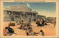Nantasket Beach Showing Rear End of State Bath House