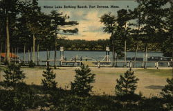 Mirror Lake Bathing Beach Postcard