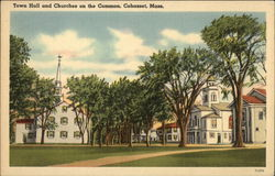 Town Hall and Churches on the Common