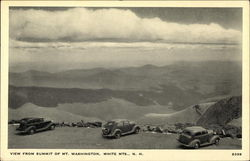 View From Summit of Mt. Washington, White Mountains, N.H.