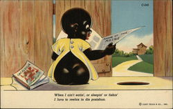 Black Baby Reading Paper