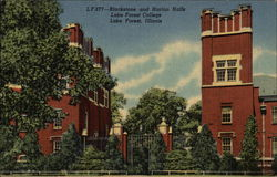 Blackstone an Harlan Halls, Lake Forest College