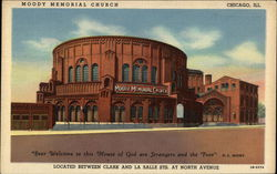 Moody Memorial Church Postcard