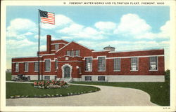 Fremont Water Works and Filtration Plant Postcard