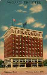 The Karcher Hotel Postcard