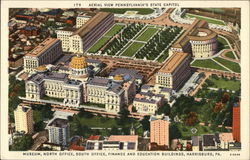 Aerial View of Pennsylvania's State Capitol