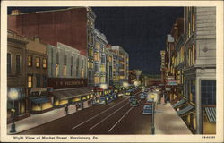 Night View of Market Street