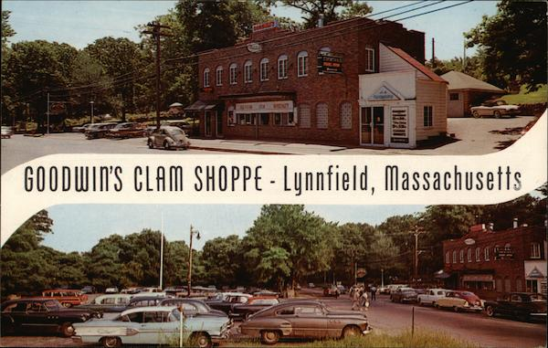Goodwin's Clam Shoppe Lynnfield, MA Postcard