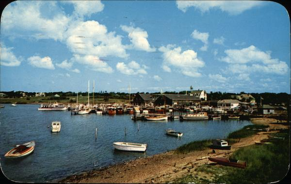 A View of West Bay Showing Crosby's Yacht Basin, Osterville Cape Cod Massachusetts