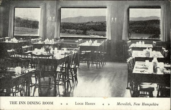 The Inn Dining Room, Loch Haven Meredith New Hampshire