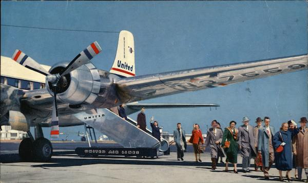 United Air Lines Spacious DC-6 and DC-6B Aircraft