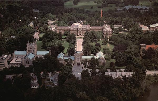 Aerial View of Main Building, Vassar College Poughkeepsie New York