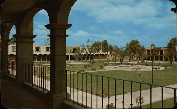 The Main Patio of the University of the Americas Cholula Mexico