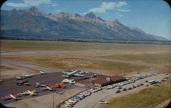 Jackson Hole Airport >> Jackson Hole Airport Wyoming Postcard