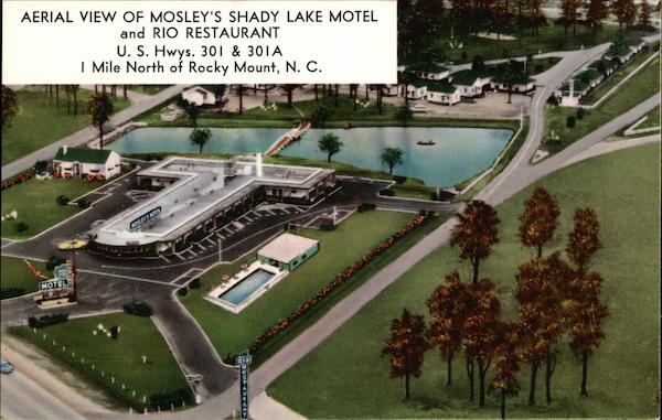 Mosley's Shady Lake Motel and Rio Restaurant Rocky Mount North Carolina