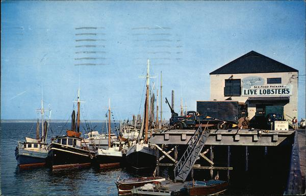 Fishing Boats at Provincetown Town Wharf Cape Cod Massachusetts