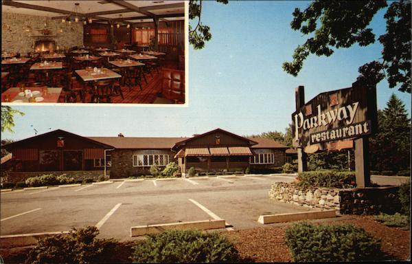 Parkway Restaurant Inc Brockton Ma Postcard