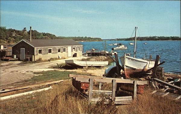 Oyster Shanty and Fishing Draggers Cape Cod Massachusetts