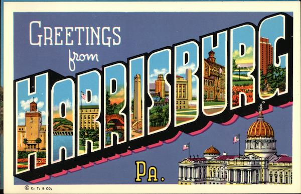 Greetings from Harrisburg, PA Pennsylvania Carl Scholfield