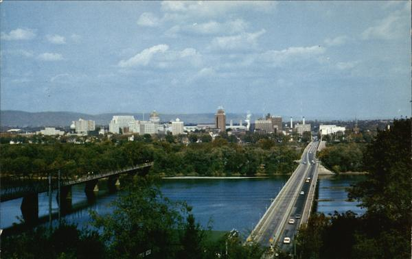 Panorama View of Harrisburg, Penna. Pennsylvania Les Smith