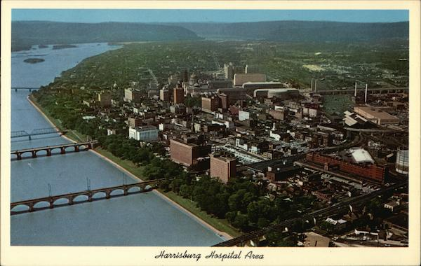 Aerial View of Hospital Area Harrisburg Pennsylvania