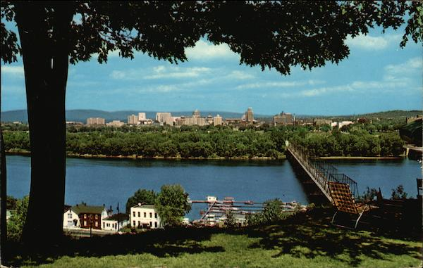 Harrisburg From the West Shore of the Susquehanna Pennsylvania