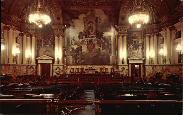 Chamber of the Pennsylvania House of Representatives, Capitol Building Harrisburg