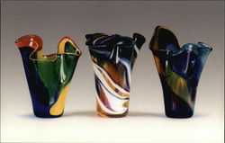 Stephen Rich Nelson Art Glass Vases