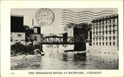 The Mississquoi River at Richford, Vermont Postcard