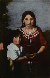 Portrait of Pocahontas and Son