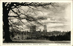 Duke University, Dormitories on West Campus Postcard