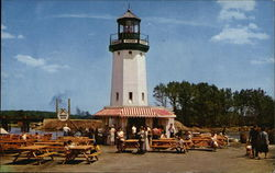 Hawkes Point Light House at Pleasure Island Postcard