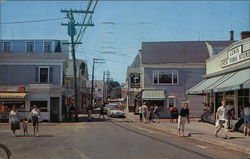 Commercial Street, looking West Cape Cod Postcard