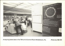 Three Mile Island Analyzing Latest Data in the TMI Unit 2 Control Room Postcard