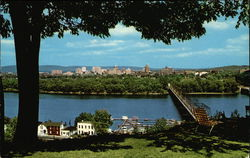 Harrisburg, from the West Shore of the Susquehanna River