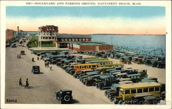 Boulevard and Parking Ground Nantasket Beach Massachusetts