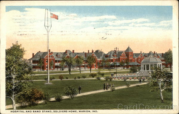Hospital and Band Stand, Soldiers Home Marion Indiana
