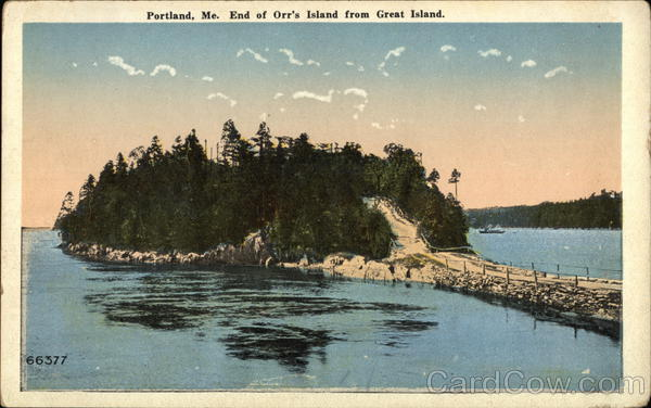 End of Orr's Island from Great Island Portland Maine