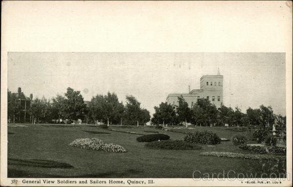 General View of Soldiers and Sailors Home Quincy Illinois