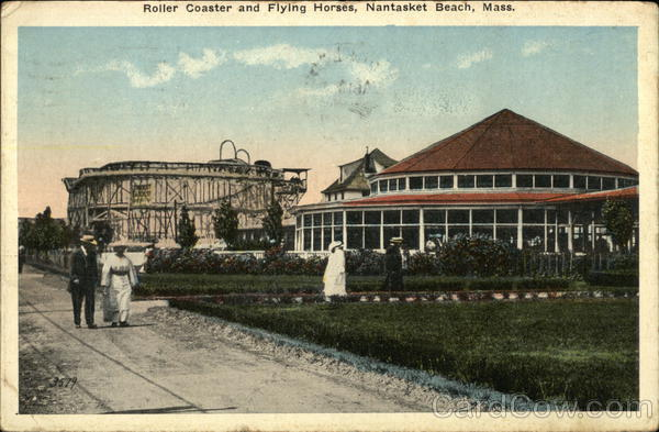 Roller Coaster and Flying Horses Nantasket Beach Massachusetts