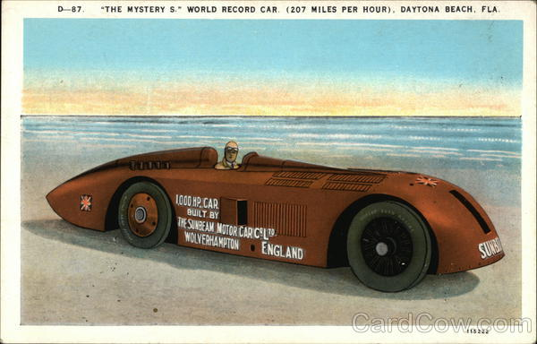 The Mystery S, World Record Car (207 Miles Per Hour) Daytona Beach Florida