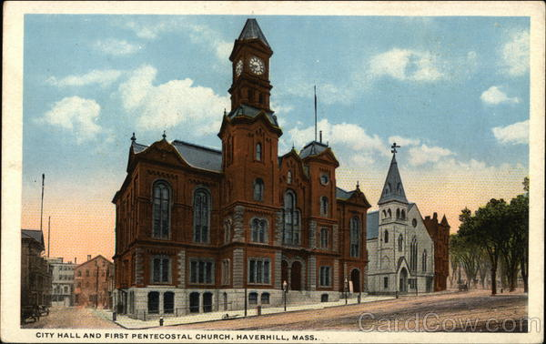 City Hall and First Pentecostal Church Haverhill Massachusetts